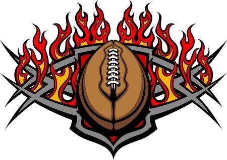 campeonato de futbol: Gráfico de América vector de imagen de la plantilla de fútbol con las llamas