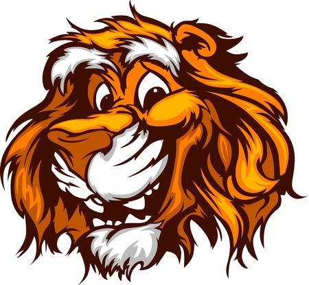 Бенгалия: Тигр глава улыбается Иллюстрация Mascot векторного Иллюстрация