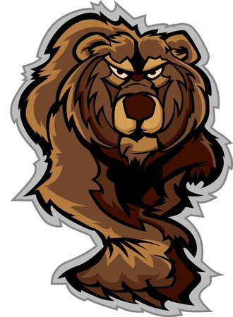 Bear Mascot Prowling with Claws and Paws Vector Image