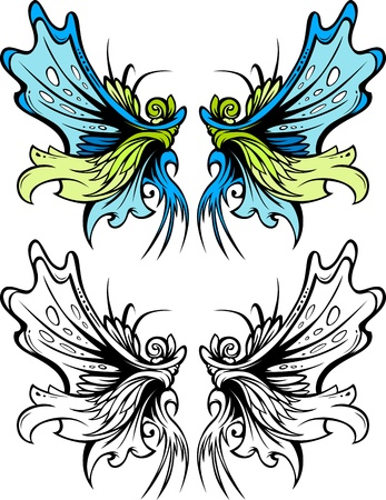 Graphic Vector Images of Butterfly or Fairy Wings Reklamní fotografie - 12805215