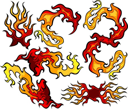 Vector Images of Swirling Fire and Flames Images Illustration