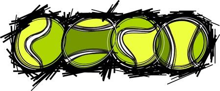 tenis: Tennis Ball Template Illustration