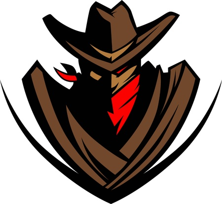 shootout: Graphic Mascot Image of a Cowboy with a Cowbaoy Hat and Bandanna