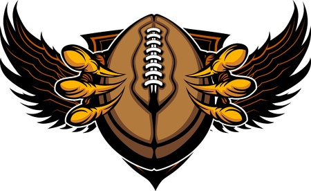 Graphic Image of a  Eagle Claws or Talons Holding a Football