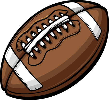 American Football Ball Template Cartoon Vector Illustrations