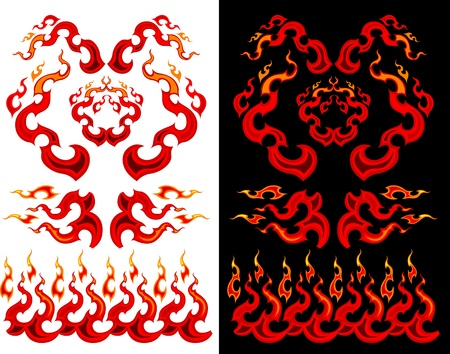 flaming: Images of Graphic Swirling Fire and Flames Images Illustration