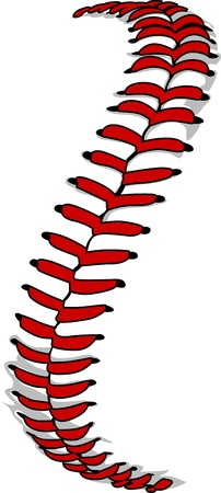 seam: Vector Illustration of Softball Laces or Baseball Laces