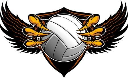 Grafisches Bild eines Eagle-Claws oder Talons Holding ein Volleyball Standard-Bild - 15750006