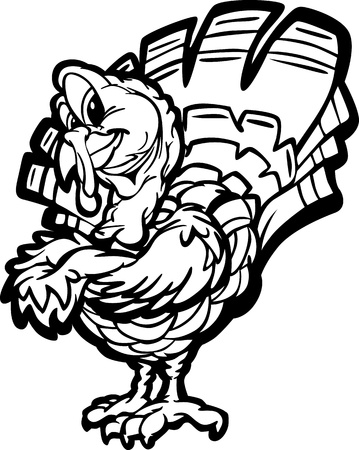 crossed arms: Turkey with Crossed Arms Illustration