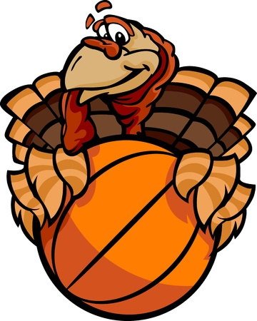 Turkey Holding a Basketball Ball