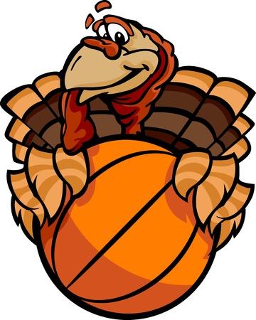 Turkey Holding a Basketball Ball