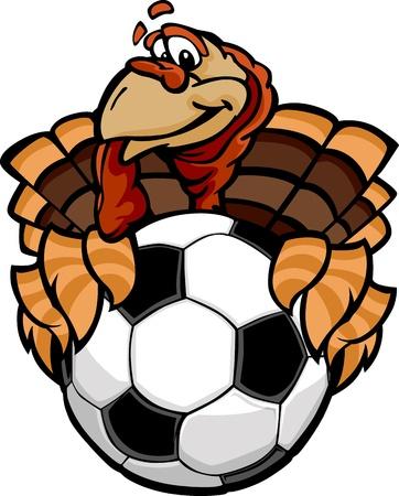 Turkey Holding a Soccer Ball