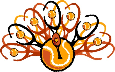 fall images: Turkey made up of Tennis Racquets