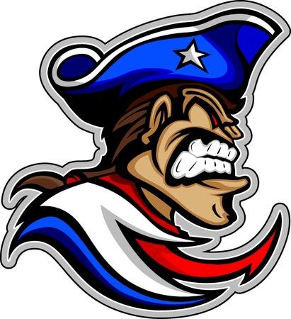 revolucionario: Patriot American Colonial con sombrero Gr�fico
