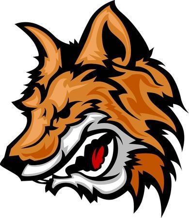 Fox Mascot mit Knurren Gesicht Graphic Vector Image Standard-Bild - 17361470