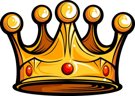 Golden Crown for a Royal King Cartoon Illustration