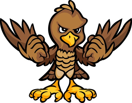 Cartoon Vector Image of an Eagle or Falcon Body Vector