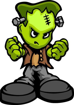 Monster mit entschlossenem Gesicht und Ball and Chain Cartoon Bild Standard-Bild - 18252768
