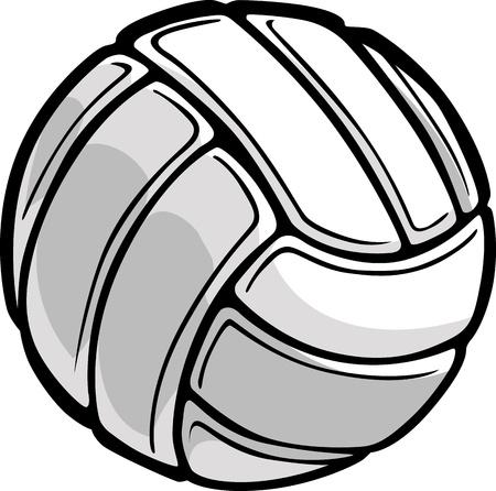 pelota de voley: Imagen de una ilustración Balón de voleibol Vectores