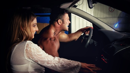 A man and a woman car pursuit