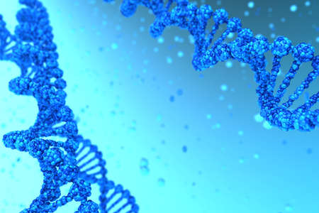 DNA background with helix magnified - high quality render Stock Photo