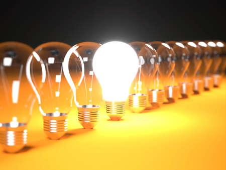 Array of Light Bulb in Line