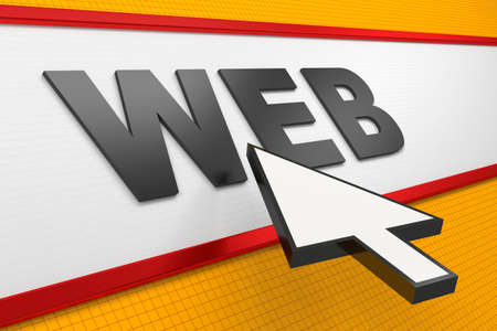 Internet Concept with Web Type and Mouse Arrow