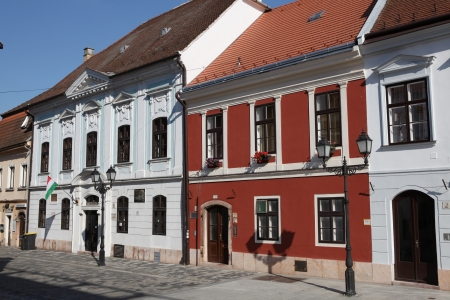 buliding: Traditional street in Hungary
