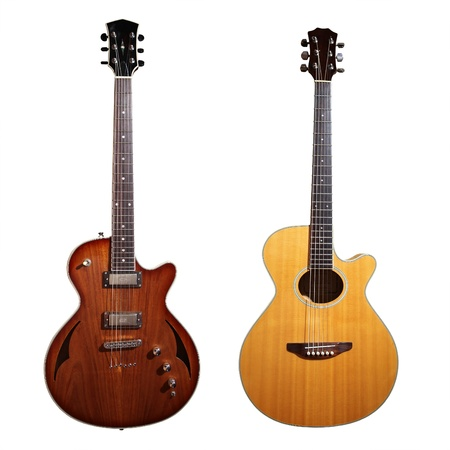 Guitars with white background photo
