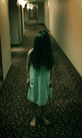 scary girl: Horror movie style girl