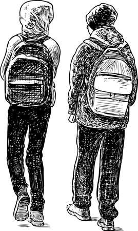 THe schoolchildren go to school