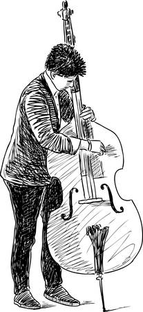 Sketch of a young cellist.