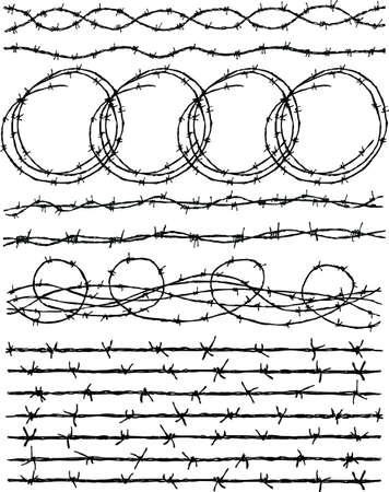 有刺鉄線のベクター図面  イラスト・ベクター素材