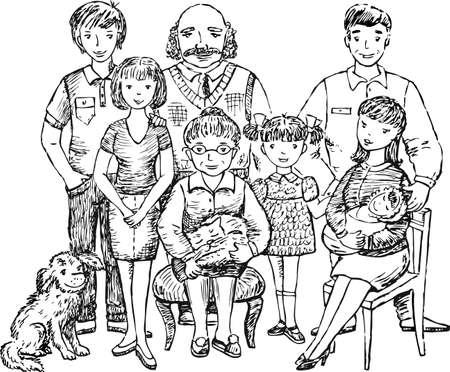 Sketch of a big family