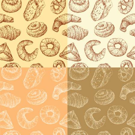 描かれたペストリーのパターン