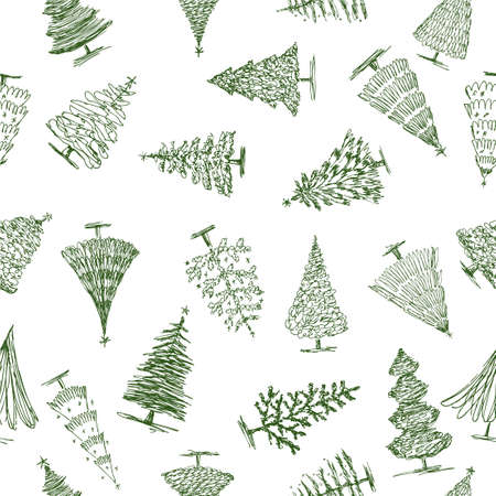 Pattern of the christmas trees