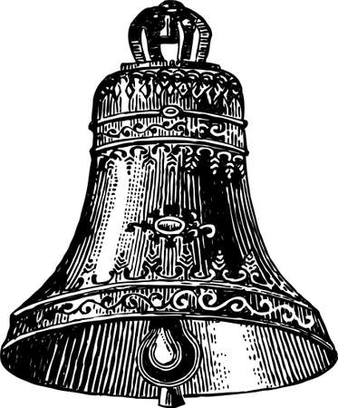 Vector image of a vintage ornate bell