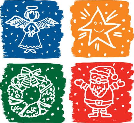 Dessins vectoriels des symboles de Noël