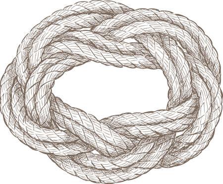 Sketch of a twisted rope Reklamní fotografie - 84976755