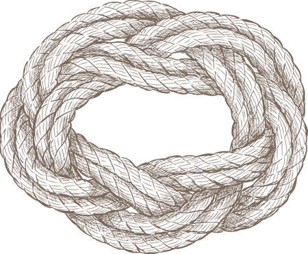Sketch of a twisted rope