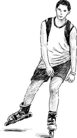 rulos: Adolescente paseos en los rodillos