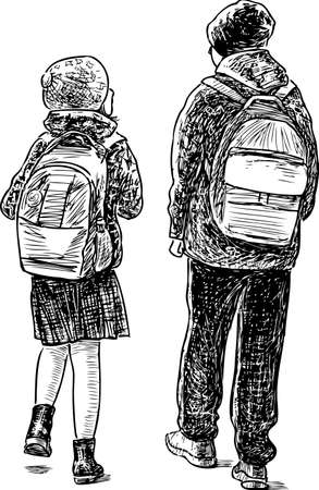 The kids go to school
