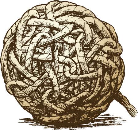 ロープ ハンクの図面