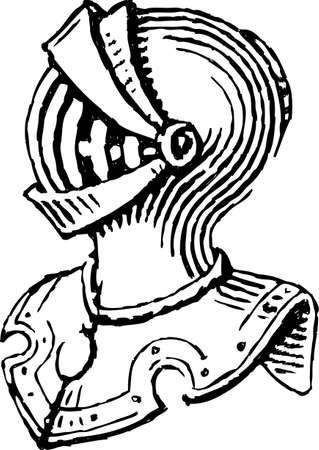 Vektorzeichnung einer mittelalterlichen Ritterrüstung Standard-Bild - 85868528
