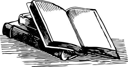 Vector image of the open book