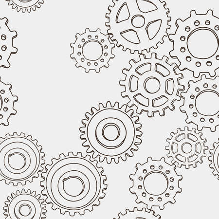 Vector pattern of the abstract gears Ilustração