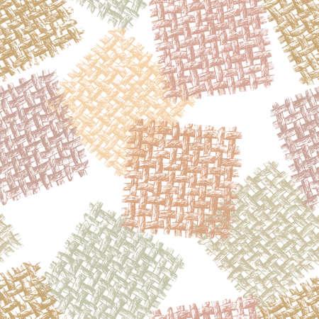Pattern of bound threads.