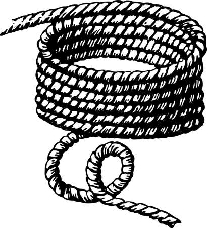 Vector image of a rigging rope. Illustration