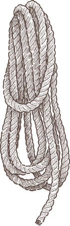 Hank of a rigging rope