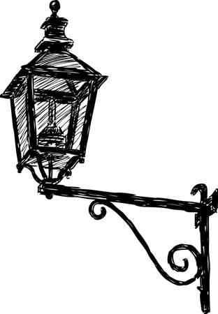 Image of a vintage street light